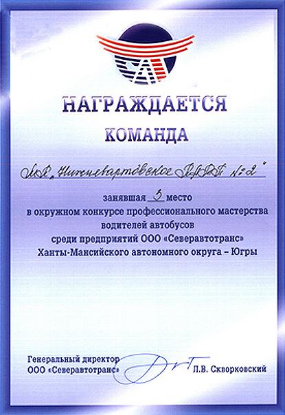 Список директоров МУ ПАТП-2